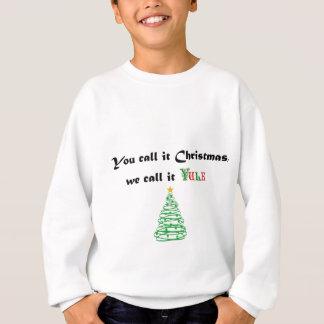U roept het Kerstmis, roepen wij het Yule Trui