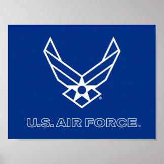 U.S. Het Logo van de Luchtmacht - Blauw Poster