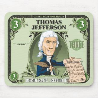 U.S. Presidenten Mousepad: #3 Thomas Jefferson Muismat