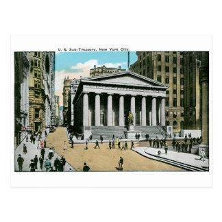 U.S. Sub Schatkist, de Stad van New York Briefkaart