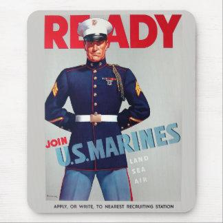 """U.S. Van de marine het Vintage WO.II """"Klaar"""" Muismat"""