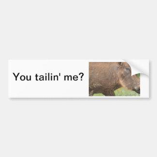 U talkin aan me? Grappig wrattenzwijn van Afrika Bumpersticker