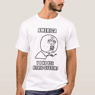 U van Amerika Y Geen T-shirt van het Systeem van
