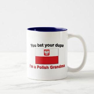 U wedt uw dupa ik een Poolse Oma ben Tweekleurige Koffiemok