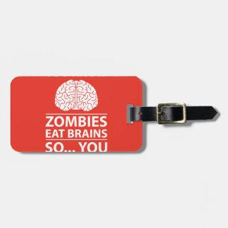 U weet het - de Zombieën eten de Grap van Hersenen Bagagelabel