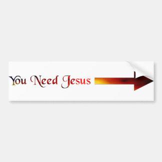 U wenst Jesus Bumpersticker