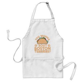 U wilt aan de Periode Boston Terriers van de Taco? Standaard Schort