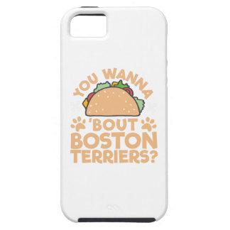 U wilt aan de Periode Boston Terriers van de Taco? Tough iPhone 5 Hoesje