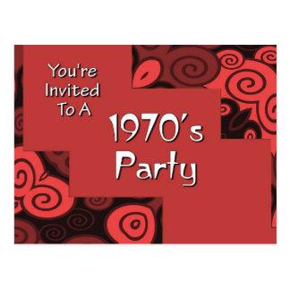 U wordt uitgenodigd aan de jaren '70Partij van A Briefkaart