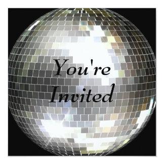 U wordt uitgenodigd - de Bal van de Disco 13,3x13,3 Vierkante Uitnodiging Kaart