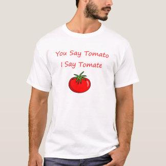 U zegt tomaat, zeg ik tomate t shirt