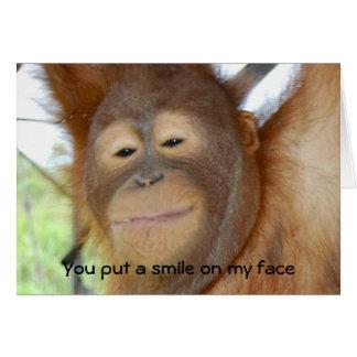 U zet een Glimlach op Mijn Gezicht Wenskaart