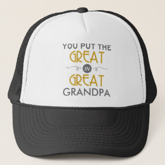 U zet Groot in Grote Opa Trucker Pet