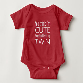 U zou mijn tweeling moeten zien - Donker Overhemd Romper