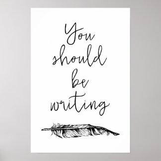 U zou moeten schrijven poster