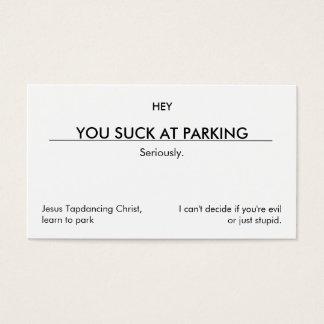 U zuigt bij parkeren. (schone klantgerichte