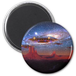 UFO over de Magneet van de Vallei van het Monument