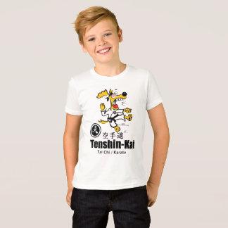 Ugmo de T-shirt van de Karate van de Hond (kind)