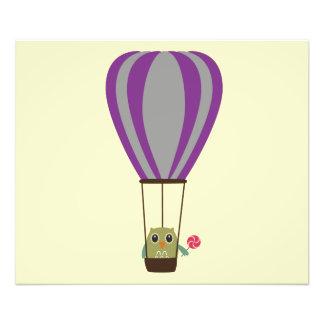 Uil in luchtballon met een lolly fotoprints
