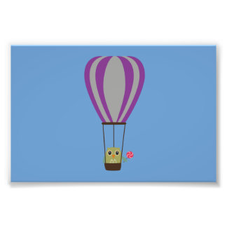 Uil in luchtballon met een lolly foto prints