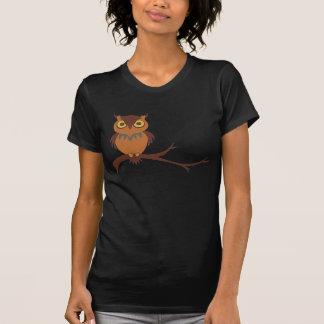 Uil op de Dames van een Tak T Shirt