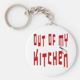 Uit Mijn Spreuk van de Keuken Basic Ronde Button Sleutelhanger