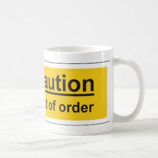 uit orde koffie bekers