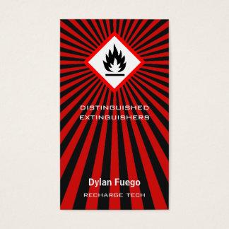 Uitbarsting in (brandbare) Vlammen Visitekaartjes