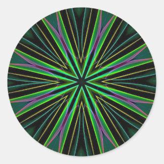 Uitbarsting van de Ster van de Lavendel van het Ronde Sticker
