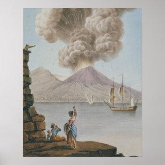 Uitbarsting van de Vesuvius, Maandag 9 Augustus 17 Poster