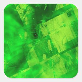 Uitbarsting van Groen Vierkante Sticker