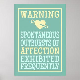 Uitbarstingen van het poster van de Affectie