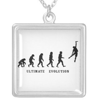 Uiteindelijk evolutieketting zilver vergulden ketting