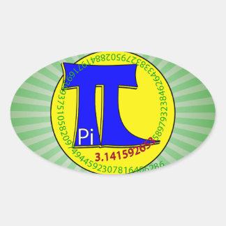 Uiteindelijk Symbool 3.14 van pi Ovaalvormige Sticker