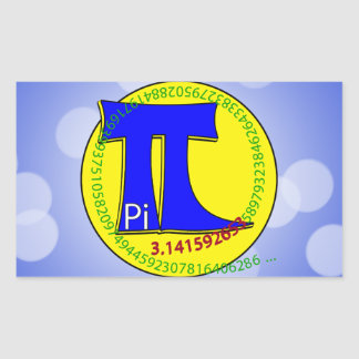 Uiteindelijk Symbool 3.14 van pi Rechthoekvormige Sticker
