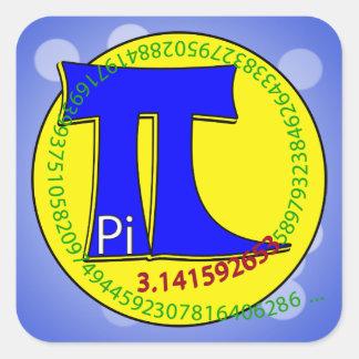 Uiteindelijk Symbool 3.14 van pi Vierkante Sticker