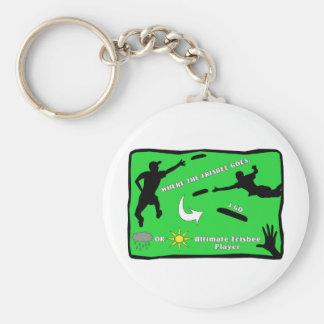 Uiteindelijke Frisbee Keychain Sleutelhanger