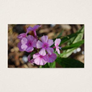 Uiterst kleine Paarse Bloemen - Zaken Visitekaartjes