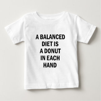 Uitgebalanceerd dieet baby t shirts