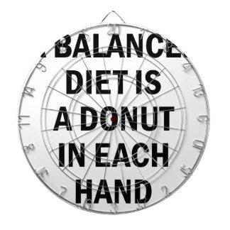 Uitgebalanceerd dieet dartbord