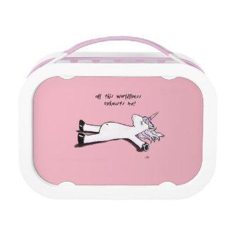 Uitgeputte Eenhoorn Lunchbox
