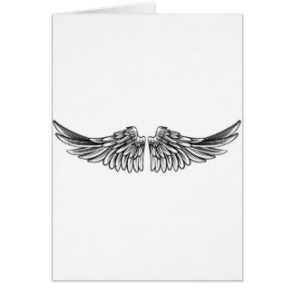 Uitgespreid Paar Engel of Vleugels van Eagle Briefkaarten 0