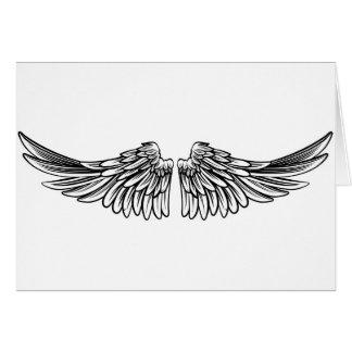 Uitgespreid Paar Engel of Vleugels van Eagle Kaart