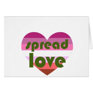 Uitgespreide Lesbische Liefde Briefkaarten 0