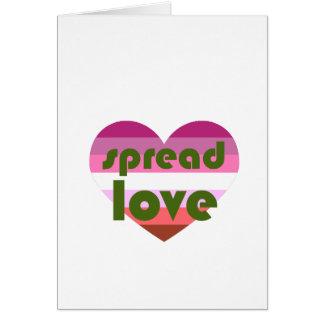 Uitgespreide Lesbische Liefde Kaart
