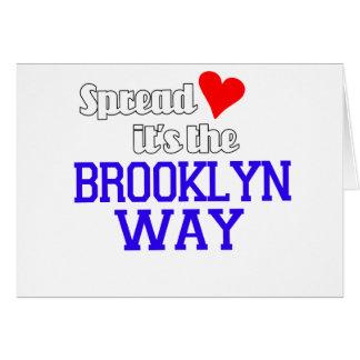 Uitgespreide Liefde de Manier van Brooklyn Briefkaarten 0