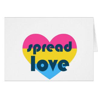 Uitgespreide Liefde Pansexual Briefkaarten 0