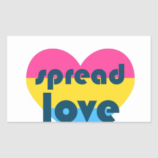 Uitgespreide Liefde Pansexual Rechthoekige Sticker