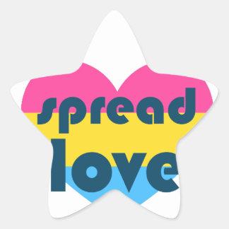 Uitgespreide Liefde Pansexual Ster Sticker