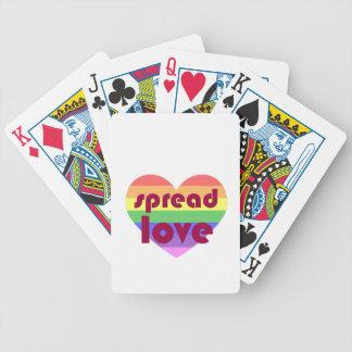 Uitgespreide Vrolijke Liefde Poker Kaarten